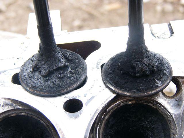 Прогоревшие клапана двигателя