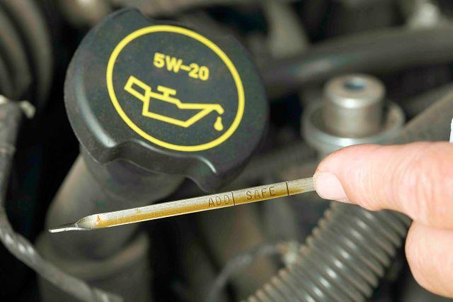 Уровень масла в моторе