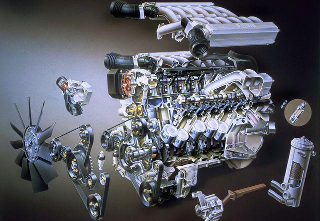 Строение двигателя