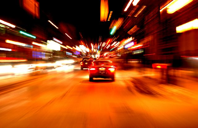 Ночная дорога в городе