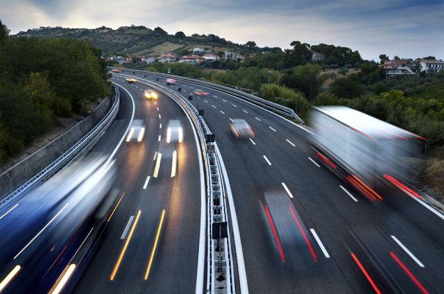 Движение по объездной дороге
