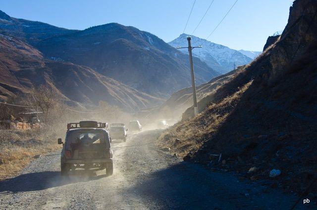 Пыльная горная дорога