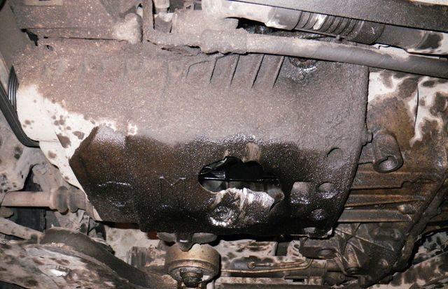 Ремонт поддона картера двигателя