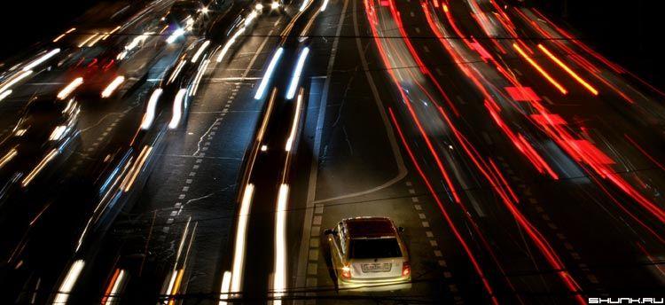 Ночное движение в Москве