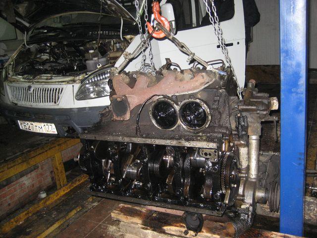 Съем двигателя с машины