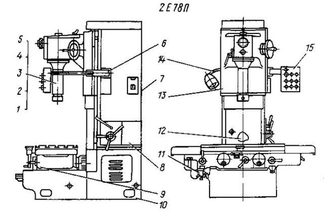 Схема станка по расточке