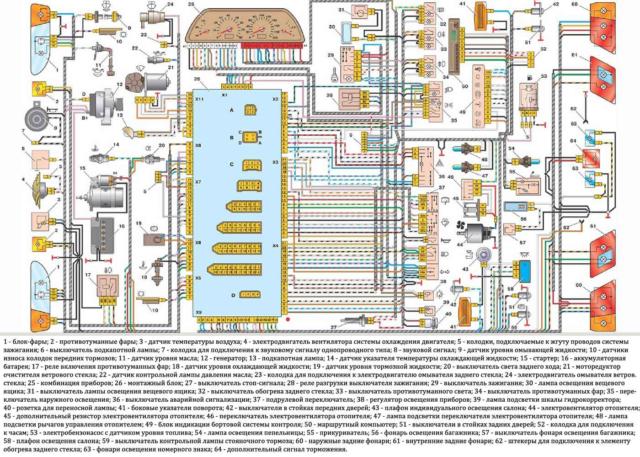 Схема электрооборудования двигателя