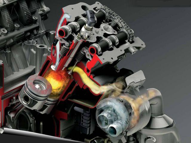 Модель работы двигателя