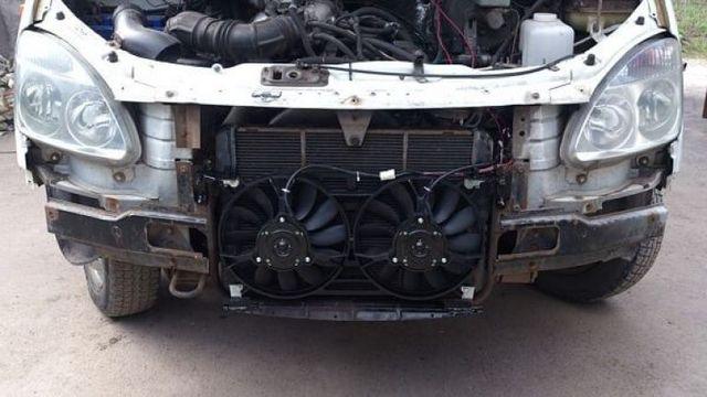Вентилятор радиатора газели