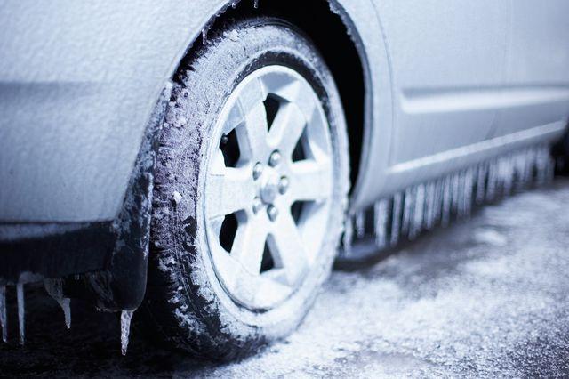 Ледяной дождь на машине