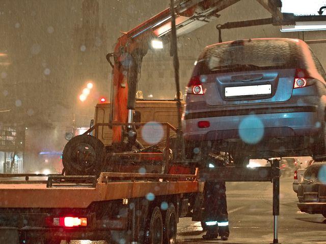 Эвакуация машины