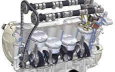 Работа клапанов двигателя