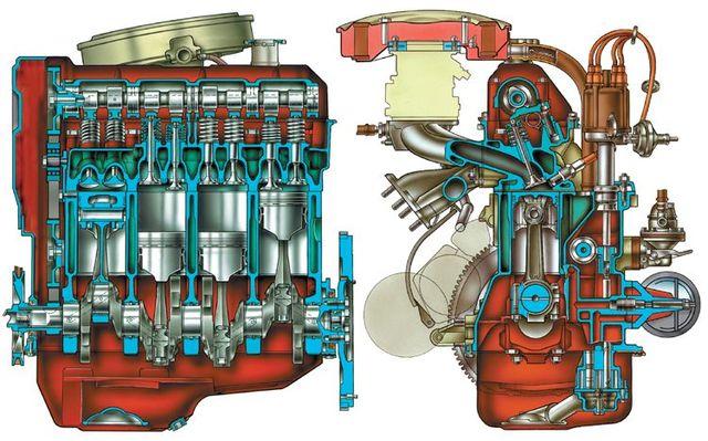 Схема двигателя ВАЗ 2101