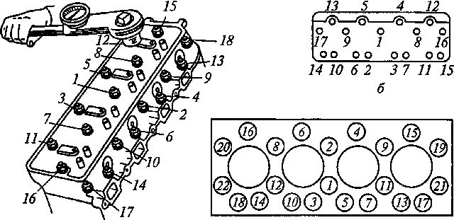 Схема затяжки ГБЦ ЯМЗ 7511