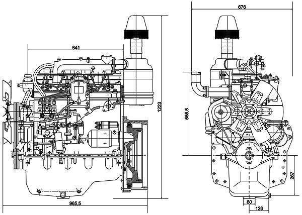 Схема мотора Д243