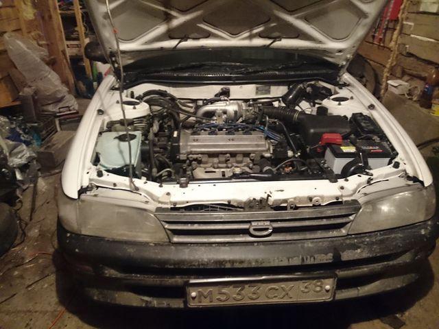 Двигатель 4E-FE под капотом