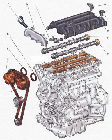 Двигатель Duratec 1.6 в разборе