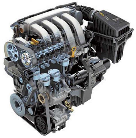 Общий вид двигателя Рено