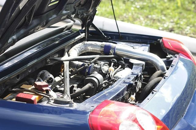 Двигатель 3S GTE в подкапотном пространстве