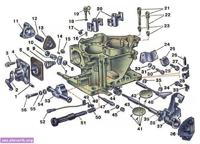 solex 04 640x461 - Устройство и работа карбюратора солекс