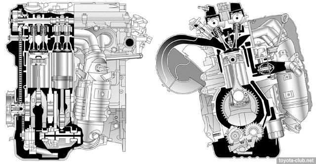 Схема двигателя 2AZ