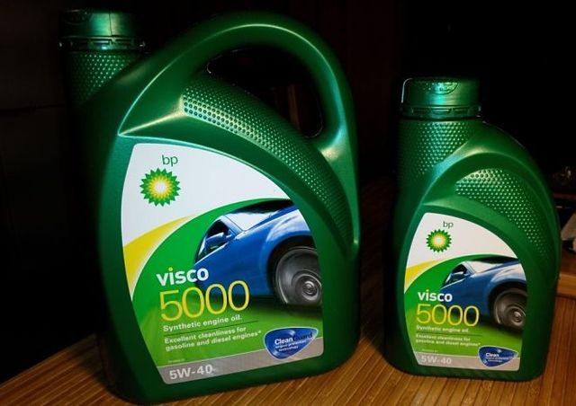 BP Visco 5000 5W-40 4л и 1л