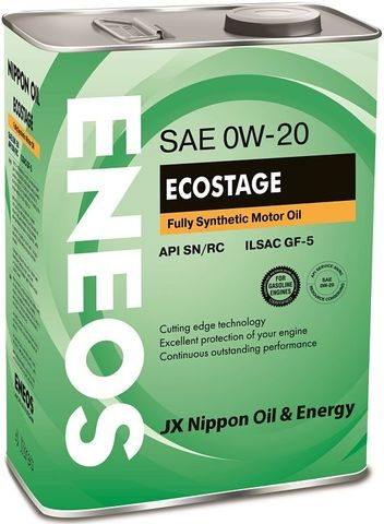 Масло ENEOS ECOSTAGE SN 0W-20 4 литра