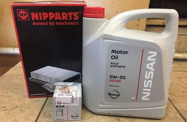 Моторное масло NISSAN MOTOR OIL FS 5W-30 A5/B5