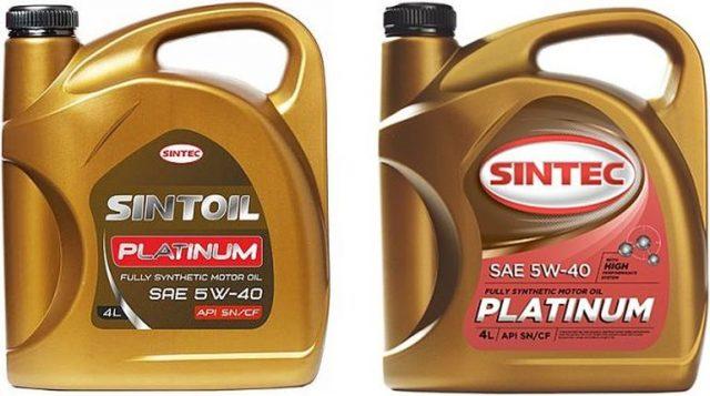 SINTEC Platinum SAE 5W40 API SN/CF