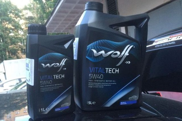WOLF VITALTECH 5W40 1 и 5 литров