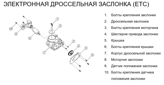 Дроссельная заслонка двигателя