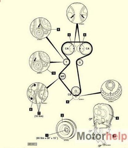 Схема ремня ГРМ Шевроле Лачетти