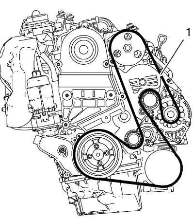Схема ремня генератора Шевроле Орландо
