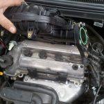 Двигатель без верхней крышки Шевроле Спарк
