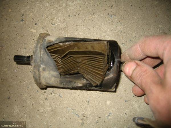 Замена топливного фильтра Renault Sandero