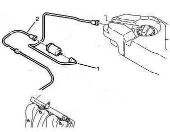 Схема топливной системы Citroen C3