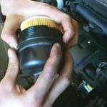 Установка масляного фильтра Citroen C3