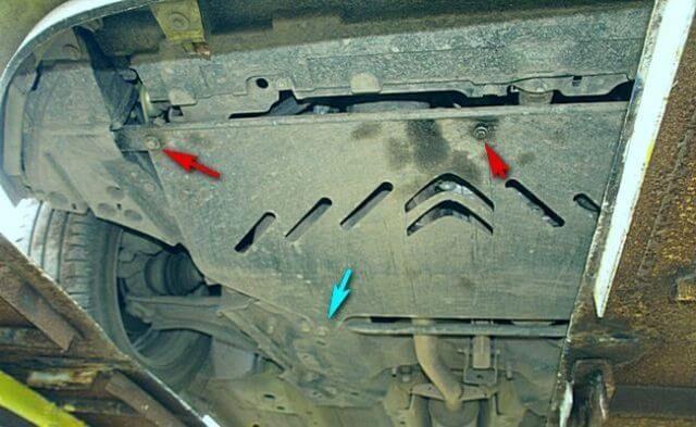 Защита двигателя Citroen C3