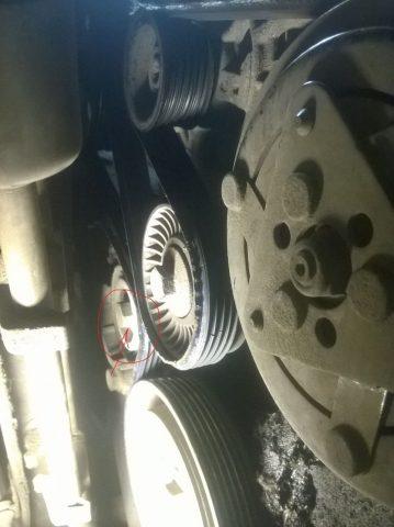 Замена ремня генератора Citroen C5