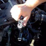 Закручиваем топливный фильтр Citroen C5