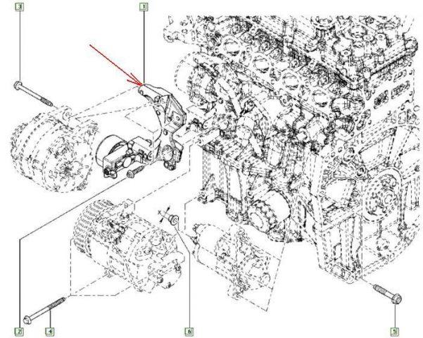 Схема расположения ремня генератора Renault Kaptur