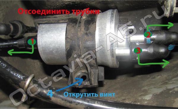 Крепление топливного фильтра Skoda Octavia A5