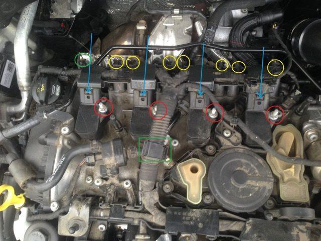 Крепление катушек зажигания Skoda Octavia A7