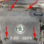 Крепление крышки двигателя Skoda Octavia Tour