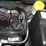 Месторасположение патрубка питания Peugeot 207