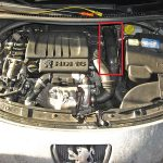 Откручиваем воздуховод Peugeot 207